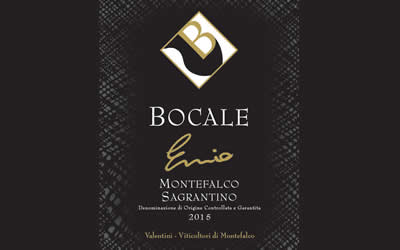 """ENNIO"" 2015 BOCALE LAUNCHES ITS NEW SAGRANTINO"